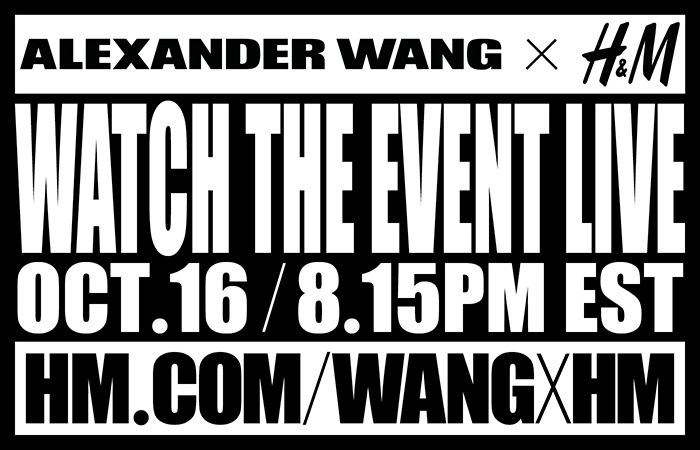 Alexander Wang x H&M NYC Event Live Stream
