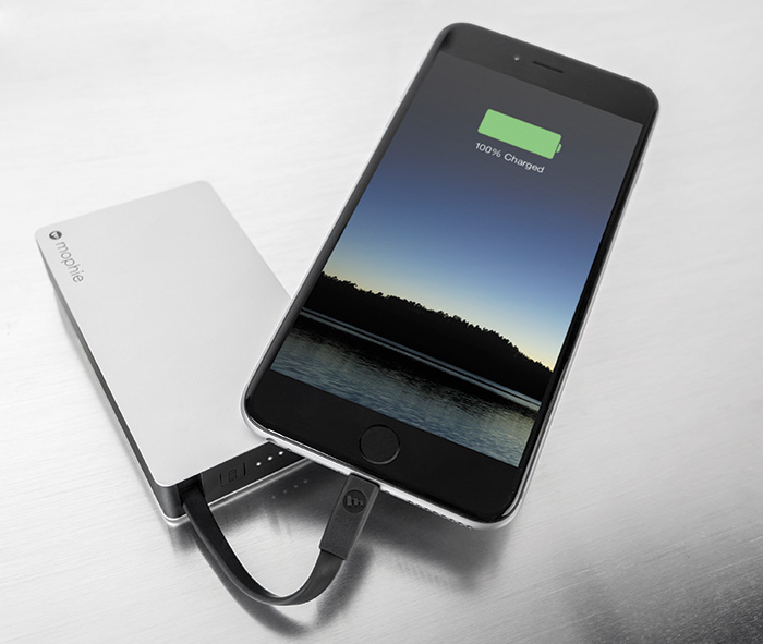 Mophie Powerstation Plus with Built-in Charging Cable