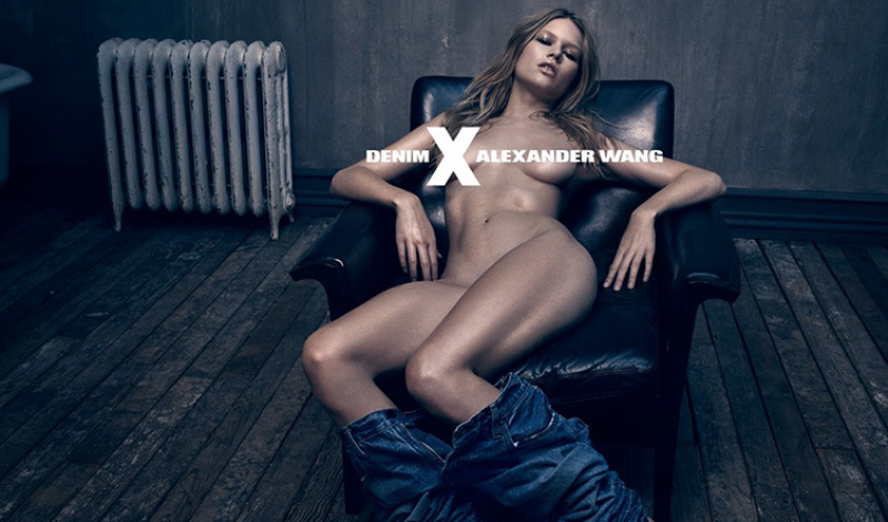 Anna Ewers for Alexander Wang 'DENIM x AW' Campaign