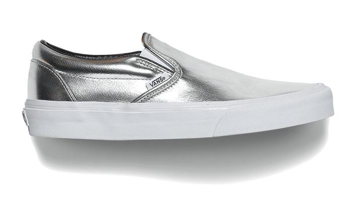 Vans Silver Slip On