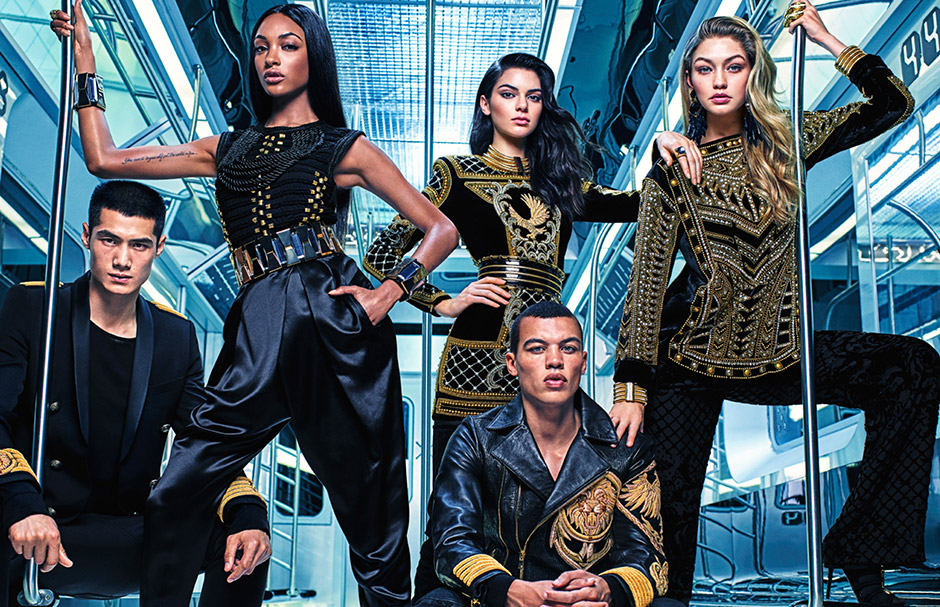 Kendall Jenner, Gigi Hadid and Jourdan Dunn for Balmain x H&M Ad Campaign