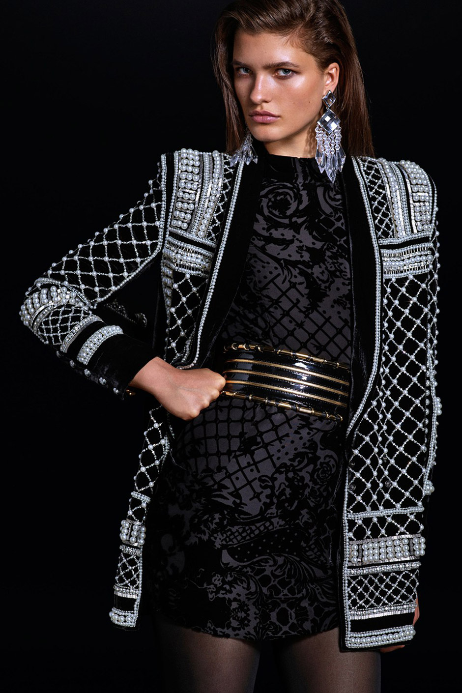 H&M and Balmain's luxe-meets-mass collaboration played with highlights from Balmain's first eight seasons under Olivier Rousteing's creative leadership, creating a retrospective range that made very clear that Rousteing and his team had managed to construct a unique, recognizable Balmain DNA within a very short period of time.