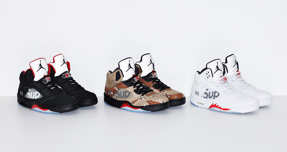 Supreme x Air Jordan 5 Collection