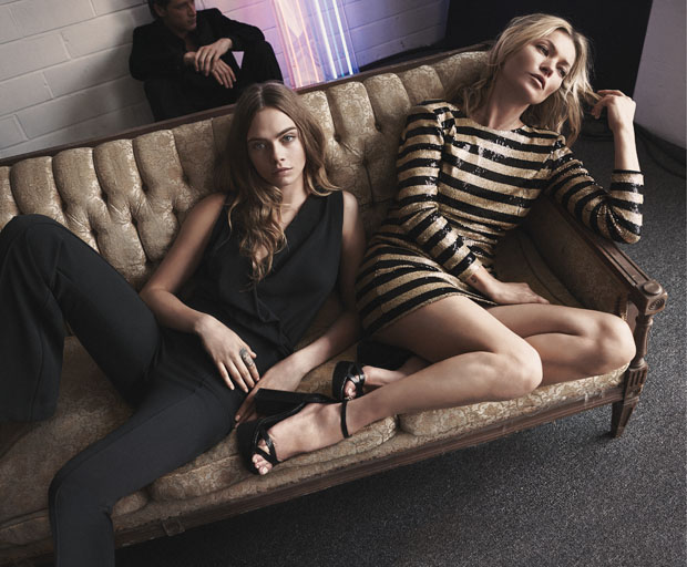 Kate Moss & Cara Delevingne for Mango Evening Collection Winter 2015