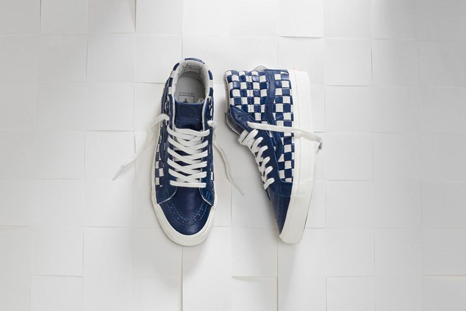 blue white checkered vans