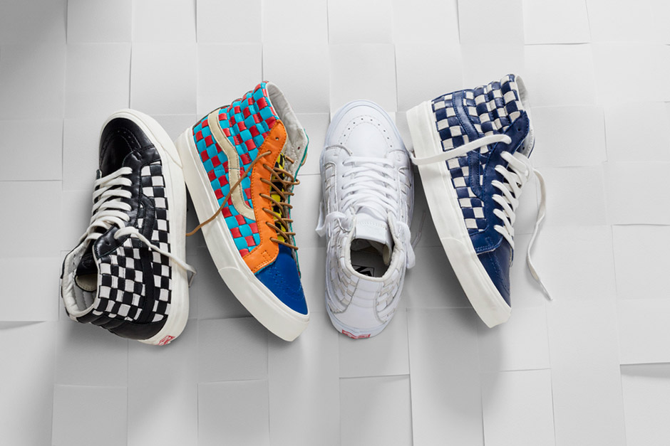 Vault by Vans Woven Leather Checkered Past Collection - nitrolicious.com a654181855