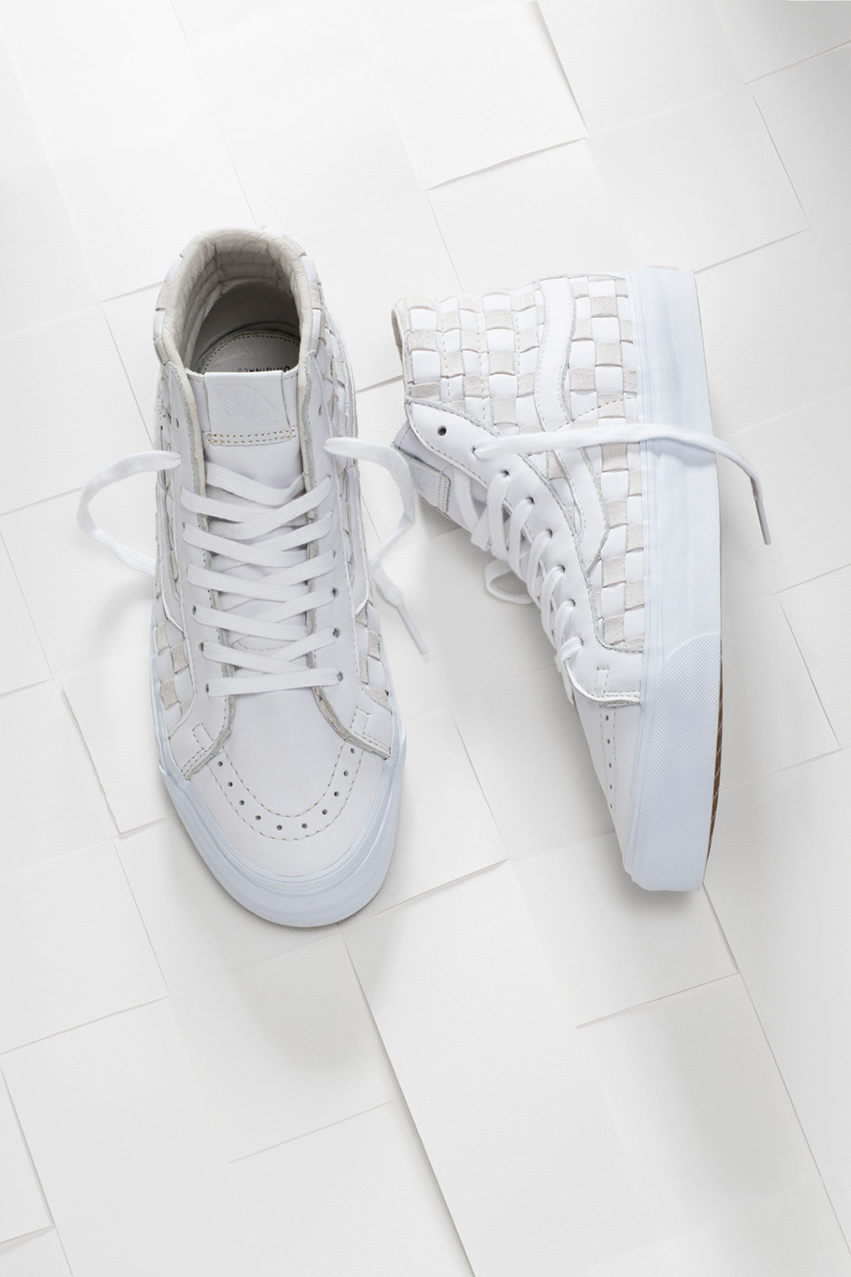 Vault By Vans Woven Leather Checkered Past Collection - Nitrolicious.com