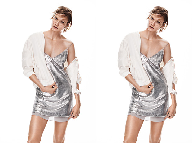 Karlie Kloss for Mango 'New Metallics' Spring/Summer 2016 Campaign