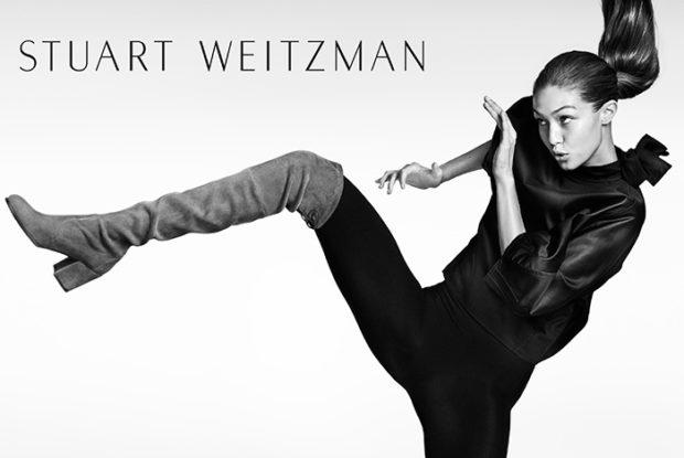 Gigi Hadid for Stuart Weitzman Fall 2016 Campaign