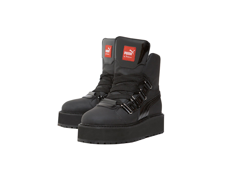 fe786f70226 SNEAKER BOOT BLACK – Introducing  the Sneaker Boot Black from the FENTY PUMA  by Rihanna collection. With a stacked platform midsole