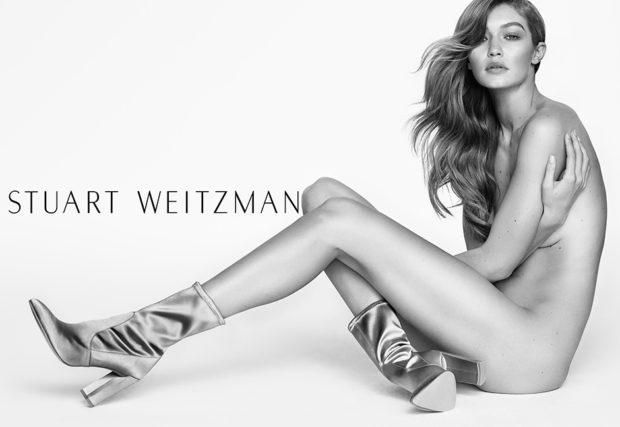 Gigi Hadid for Stuart Weitzman Spring 2017 Ad Campaign