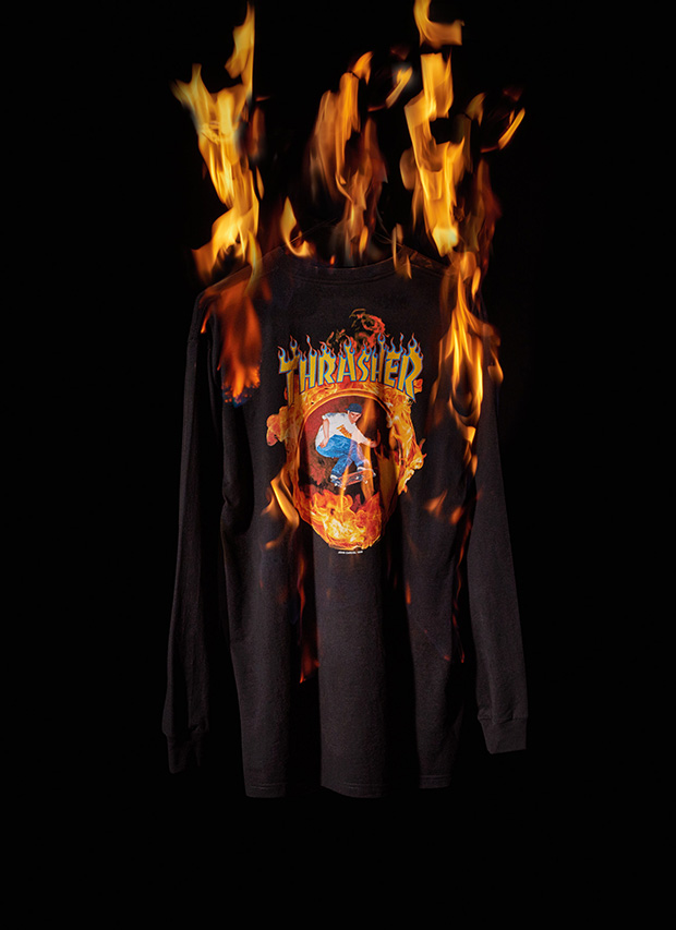 ... Vans has embellished the iconic cover on premium apparel long sleeve  tees. The Vans x Thrasher collection is available for sale worldwide on  Saturday d1d4fa298