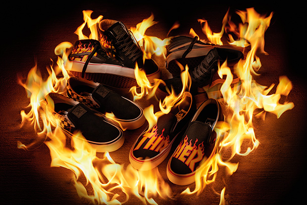 Vans Launches Thrasher Magazine Collection featuring Iconic Flame Motif
