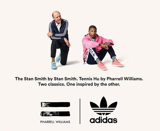 adidas Originals = PHARRELL WILLIAMS Introduce 'Tennis Hu Icons'