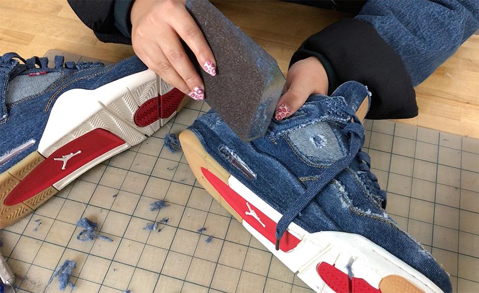 official photos a5ef8 53c4b How To Distress the Levi's Jordan 4!!! - nitrolicious.com