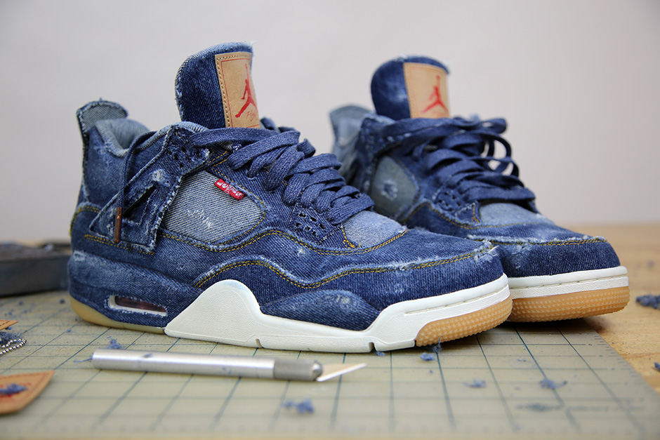 official photos 8269a 3a40f How To Distress the Levi's Jordan 4!!! - nitrolicious.com