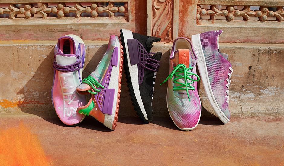 Adidas originali da pharrell williams hu holi polvere colorante raccolta