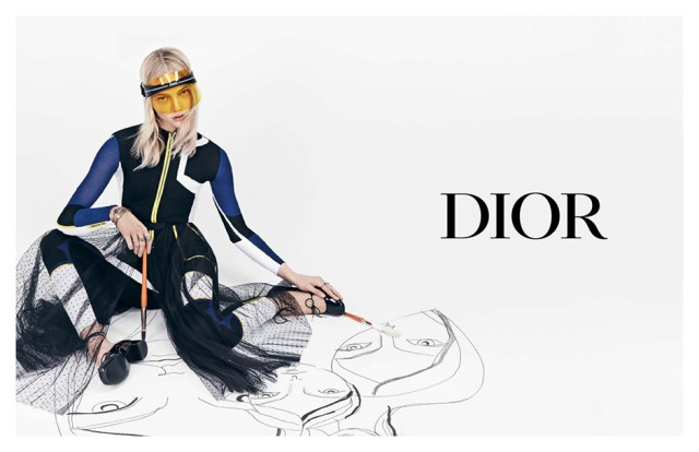 The Dior Club 1 Logo Visor/Sunglasses is Perfect for Summer!